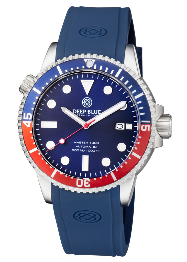 MASTER 1000 AUTOMATIC  DIVER BLUE/RED BEZEL -BLUE DIAL 15/30